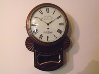 Mahogany fuse drop dial wall Clock Regency circ 1820