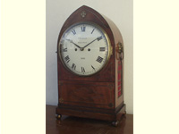Regency double fusee Mahogany Lancet Bracket Clock C1820