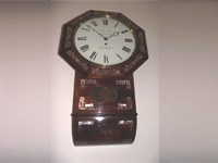 8 day rosewood drop dial fuse wall Clock