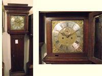 Georgian 8 day brass dial cottage style oak longcase